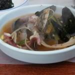 meniu coreean - supa de fructe de mare, proaspăt pescuite,
